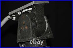 Vintage MILLER Television Studio Video Camera Tripod Pedestal Havy Head