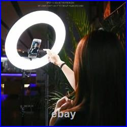 Yidoblo 18'' 96WLED Ring Light Dimmable Studio Makeup Lamp For Video Photography